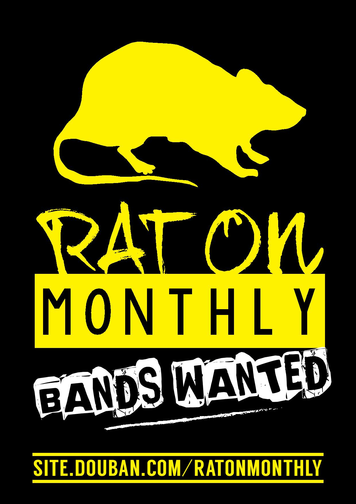Rat On Monthly Bands Wanted JPEG Poster